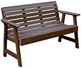 Best Highwood Patio Chairs - Highwood Weatherly Eco-Friendly 4-foot Garden Bench Brown Review