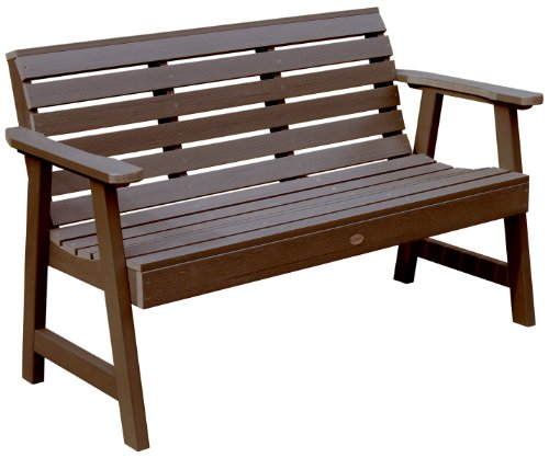 Cheap Highwood Weatherly Garden Bench, 4 feet, Weathered Acorn