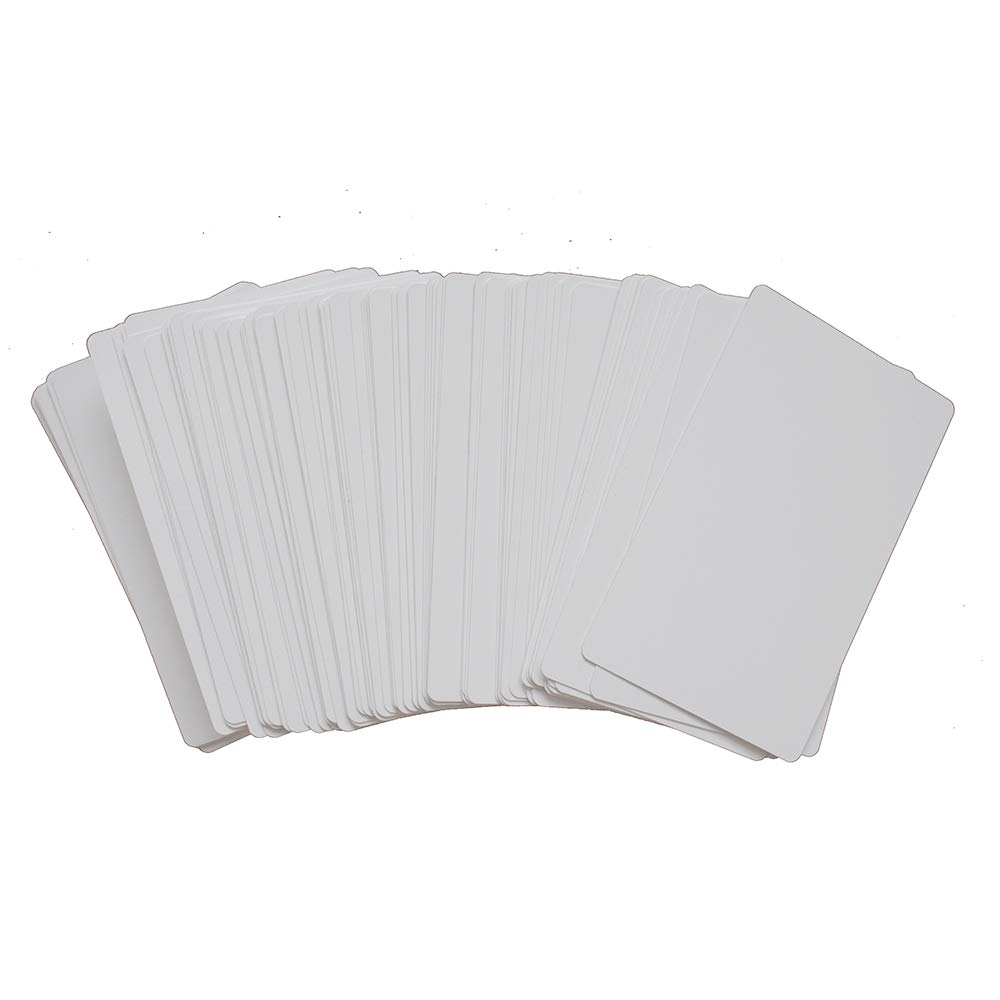 100pcs Sublimation Metal Business Cards Laser Engraved Metal Business Cards Sublimation Blanks 3.4x2.1in Thicknes (0.30mm) (White) by world-paper (Image #4)