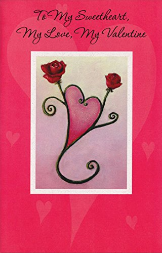 Amazon two roses form heart sweetheart freedom greetings two roses form heart sweetheart freedom greetings valentines day card m4hsunfo