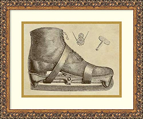 Framed Wall Art Print | Home Wall Decor Art Prints | Mechanics of The Ice Skate by Inventions | Traditional ()
