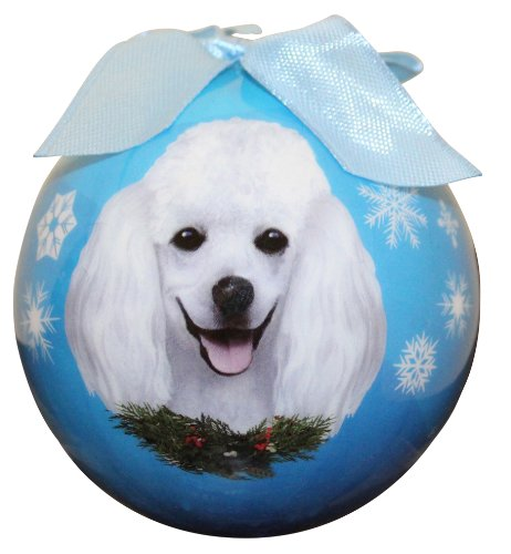 (Poodle Christmas Ornament Shatter Proof Ball Easy To Personalize A Perfect Gift For Poodle)