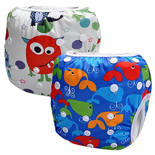 Storeofbaby 2pcs Reusable Baby Diapers