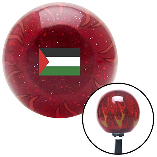 American Shifter Company ASCSNX1630814 Palestine Red Flame Metal Flake Shift Knob with M16 x 1.5 Insert street rod icon