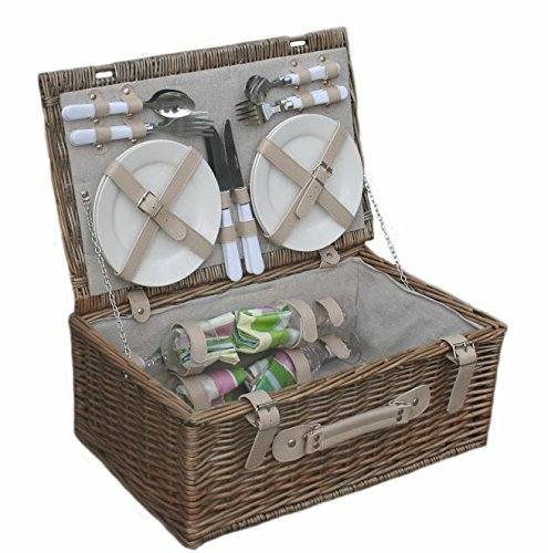 Spring 4 Person Fitted Picnic Basket by Red Hamper