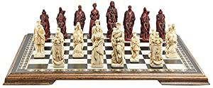 Battle of Culloden - Chess Set - Handmade - Ivory and Burgundy - 4.5 Inches