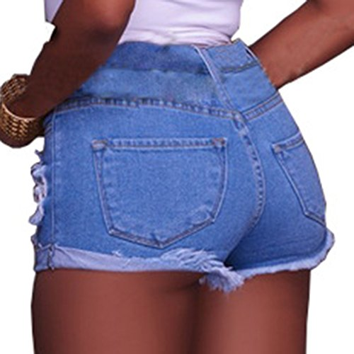 Skinny Shorts lasticit Image Trous Ami Petit Comme Denim Femmes Dchirs Jeans dOwCfxnqIn