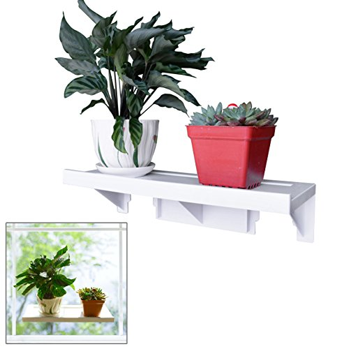 Easy Eco Life Large Powerful Window Sill Shelf Rack for Plants Herb Pots 15.4 5.4 Up to Hold 22 lbs Reusable Removable With No Residue Damage Free Installation (Planters Window Ledge Indoor)