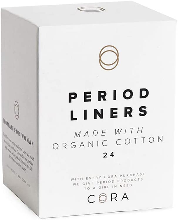 Cora Ultra Thin Organic Cotton Women's Panty Liners (24)