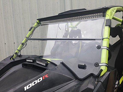 A/&S AUDIO AND SHIELD DESIGNS 2008-2014 Polaris 800 FULL SIZE 1//4 POLYCARBONATE Fold Down Windshield