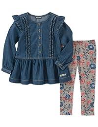 Calvin Klein - Juego de 2 Leggings de túnica para niña