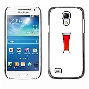 For SAMSUNG Galaxy S4 mini VERSION! / i9190 / i9192 Case , Ale Minimalist Glass Drink Stout - Diseño Patrón Teléfono Caso Cubierta Case Bumper Duro Protección Case Cover Funda