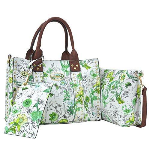 - Dasein Designer Tote Purse Satchel Handbag Faux Leather Shoulder Bag Top Handle Bag