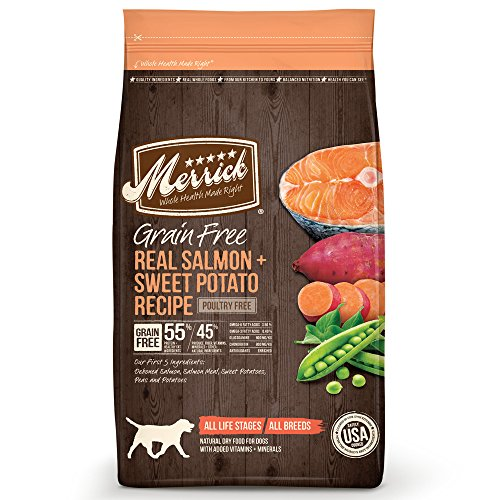 Merrick Grain Free Salmon & Sweet Potato Dry Dog Food, 25 lb.
