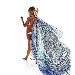 Tapiz doble hecho a mano, con diseño de mandala, de ombre hindú, hecho a mano, 100 % algodón, 100% algodón, multicolor… | DeHippies.com
