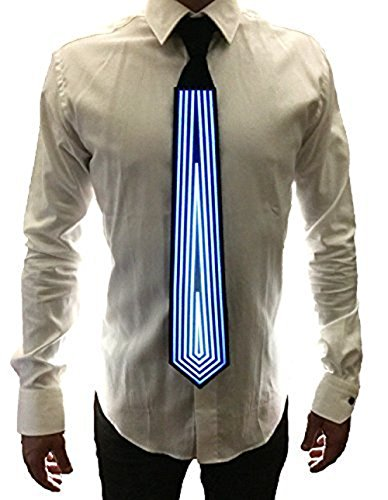 [RaveStyle LED Neck Ties - Get Lit - Music Activated Illuminated Neck Tie for Clubbing, Rave, Birthday, EDM, Disco, Dubstep, Orbiting and Costume Parties] (Body Central Halloween Costumes)