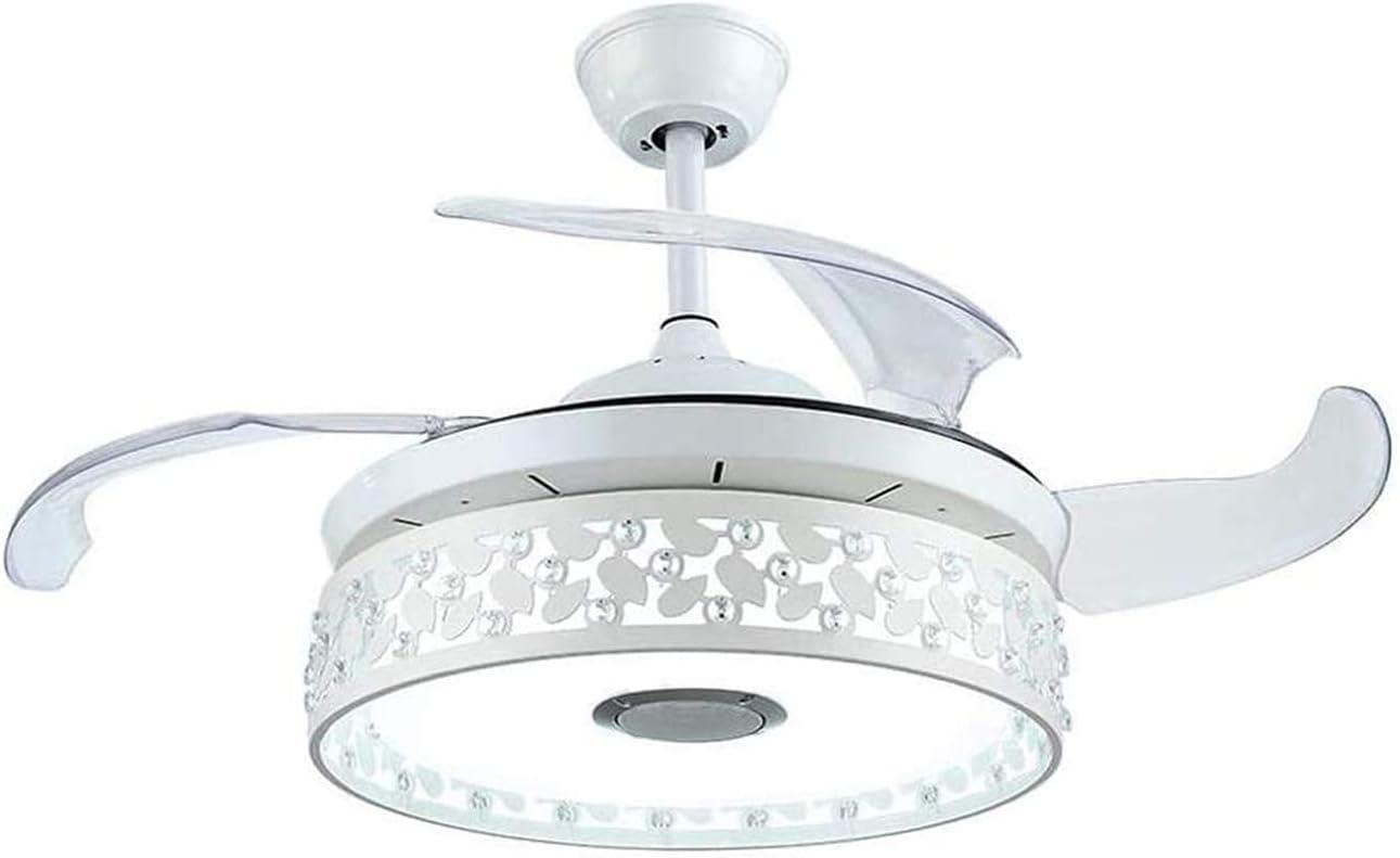 comedor con iluminaci/ón Ventilador de techo con mando a distancia LED Berkalash 3 colores y 3 vientos ajustables sal/ón para dormitorio
