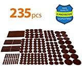 Tools & Hardware : X-PROTECTOR Premium GIANT Pack Furniture Pads 235 piece! GREAT QUANTITY of Felt Pads Furniture Feet with MANY BIG SIZES – Your Best Wood Floor Protectors. Protect Your Hardwood & Laminate Flooring!