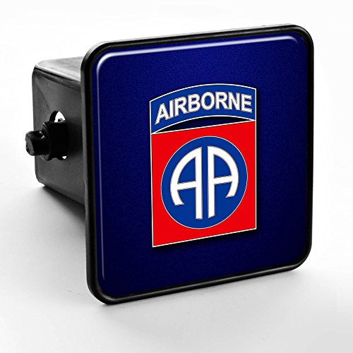 ExpressItBest Trailer Hitch Cover - US Army 82nd Airborne Division, combat service ID badge Army Hitch Cover
