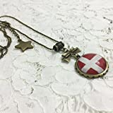 Dreamcosplay Axis Powers Hetalia Denmark Logo Girl Necklace Cosplay