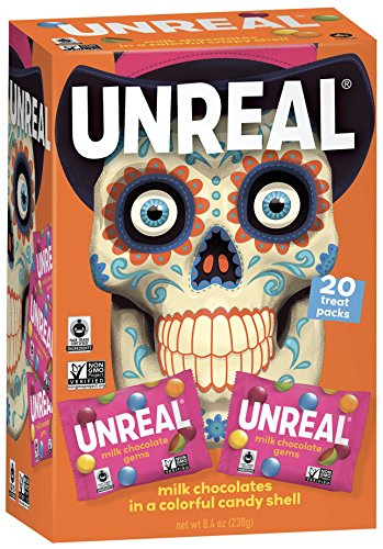 UNREAL HALLOWEEN Non-GMO Milk Chocolate Gems - 20-ct Halloween Boxes