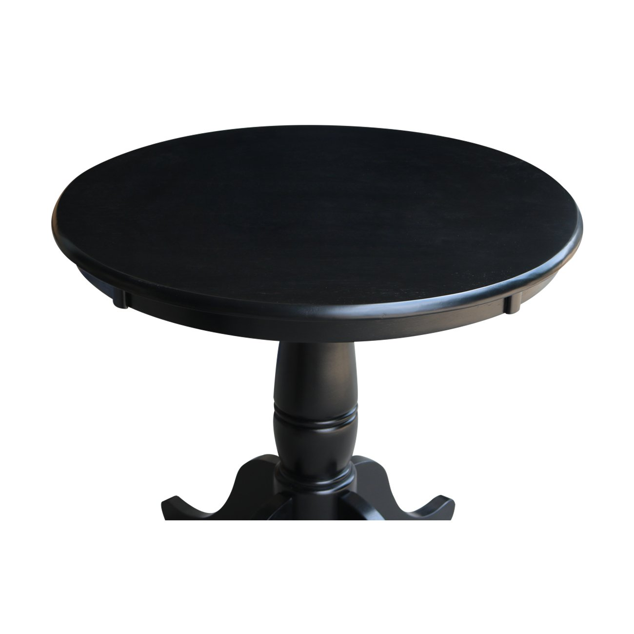 International Concepts 30-Inch Round by 30-Inch High Top Ped Table, Black