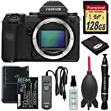 Fujifilm GFX 50S Medium Format Digital Camera Body with 128GB Card + Battery & Charger + Remote + Lenspen + Optical Cleaner + Blower + Kit