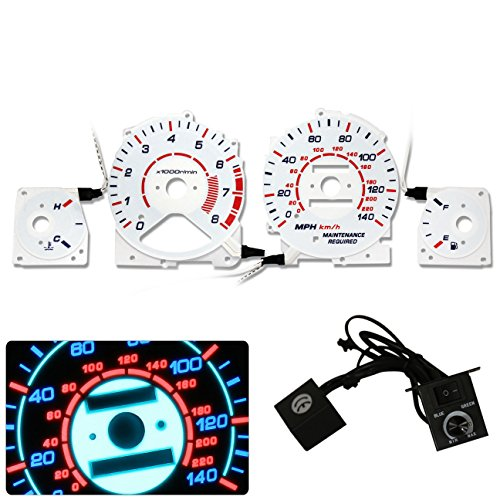 Glow White Face Reverse Gauges - 5