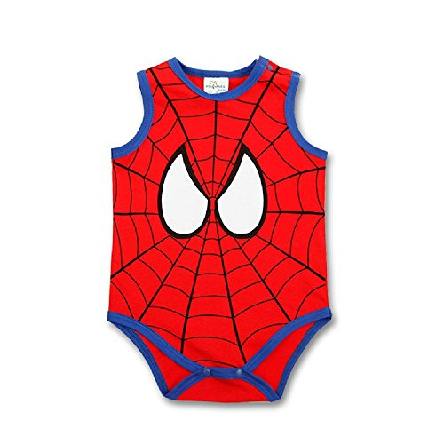 spider-man+tank+tops Products : Peachi Spider-Man Sleeve-less Tank Top Onsie Baby Toddler Infant Rompers Unisex 12m-3T
