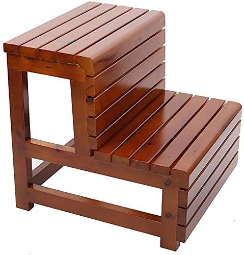 FCXBQ Taburete de baño Taburete de baño Madera Maciza de Doble Capa Escalera de Banco Escalera Baño Barril Pedal, Protección contra la corrosión a Prueba de Agua Antideslizante (Color: B): Amazon.es: Hogar