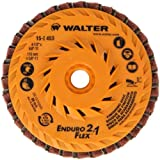 Walter Enduro-Flex 2 In 1 Abrasive Flap Disc, Type 29, 5/8''-11 Thread Size, Plastic Backing, Aluminum Oxide, 4-1/2'' Diameter (Pack of 10)