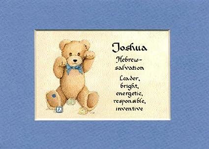 Amazon personalized baby name joshua nursery wall decor personalized baby name joshua nursery wall decor keepsake gift made in the usa negle Image collections