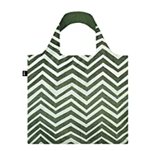 """LOQI EL.WO Reusable """"Wood Print"""" Tote Bag, Multicolored, International Carry-On"""