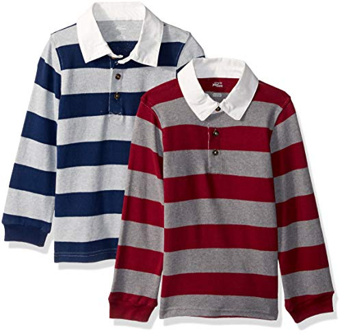 Simple Joys by Carters Toddler Boys 2-Pack Long-Sleeve Rugby Striped Shirts