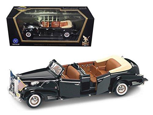 Cadillac V-16 Presidental Limousine, Schwarz 1938, Modellauto, Fertigmodell, Lucky Die Cast 1 24