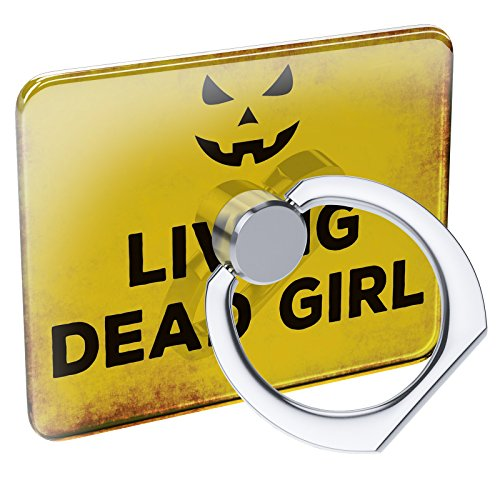 Cell Phone Ring Holder Living Dead Girl Halloween Jack-O'-Lantern Collapsible Grip & Stand Neonblond ()