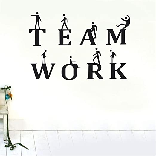 GJQFJBS Creative Wall Stickers Quote Team Work Office ...