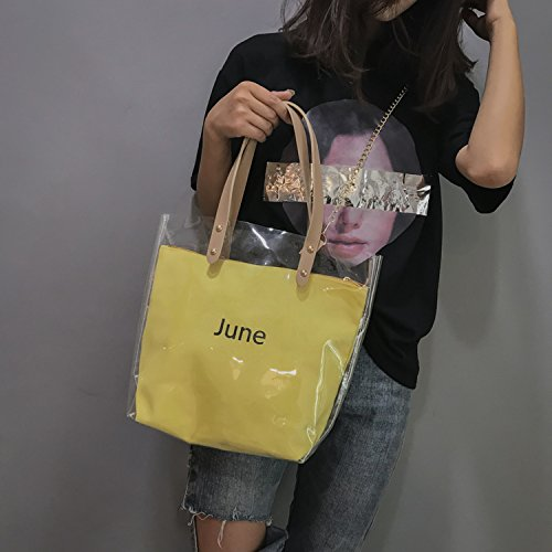 Summer bag handbags transparent 2018 women's fashion Pink shoulder H8xHZwq