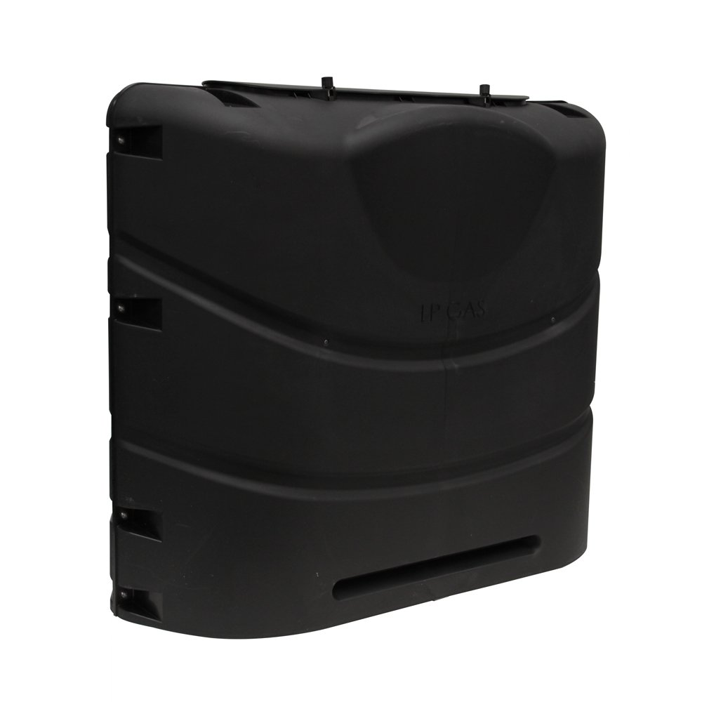Camco 40558 Heavy-Duty 20lb or 30lb Dual Propane Tank Cover (Black)