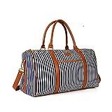 Ladies Women Weekender Bag Canvas Travel Duffle Tote Bag for Women Holdall Wenkend