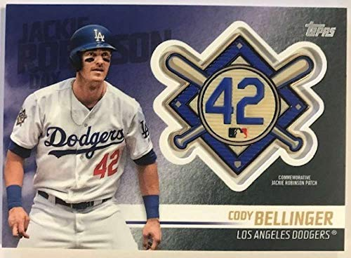2018 Topps Update and Highlights Baseball Series Jackie Robinson Day Manufactured Medallion Patch #JRP-CE Cody Bellinger Official MLB Trading Card