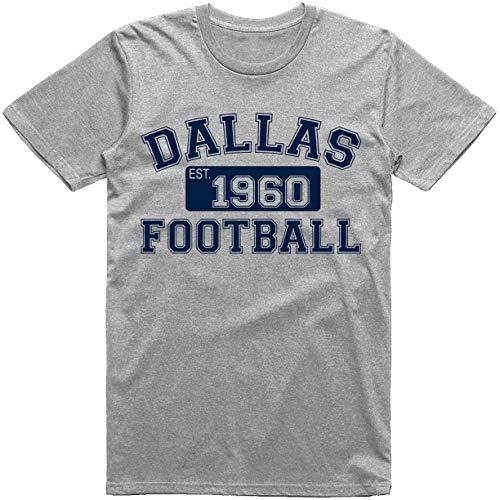 Classic Dallas Football Est. 1960 Vintage T-Shirt (M, Sport Grey)