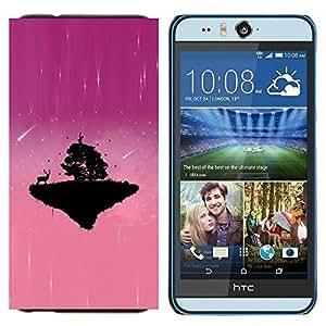 TECHCASE---Cubierta de la caja de protección para la piel dura ** HTC Desire Eye ( M910x ) ** --Pink Planet lindo