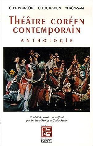 Livre Théâtre coréen contemporain : Anthologie epub, pdf