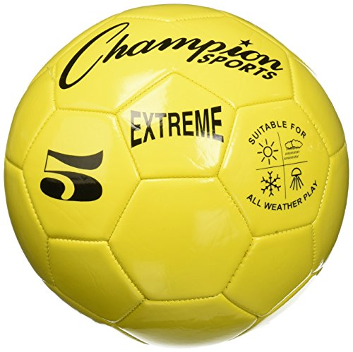 Junior Air Machine (Extreme Series Soccer Ball, Regulation Size 5 - Collegiate, Professional, and League Standard Kick Balls - All Weather, Soft Touch, Maximum Air Retention - For Adults, Teenagers, Yellow)