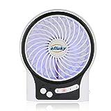 efluky 4.5 Zoll Mini USB aufladbare Fan 3 Geschwindigkeiten mit LED-Licht Beweglicher...