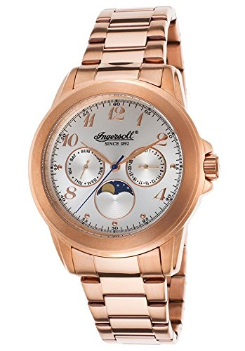 Ingersoll Men's INQ020WHRS Gresham Analog Display Japanese Quartz Rose Gold Watch