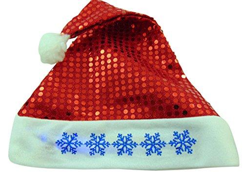 St Nicholas Children's Costume (Flashing Light Up Snowflake Santa Clause Hat One Size)