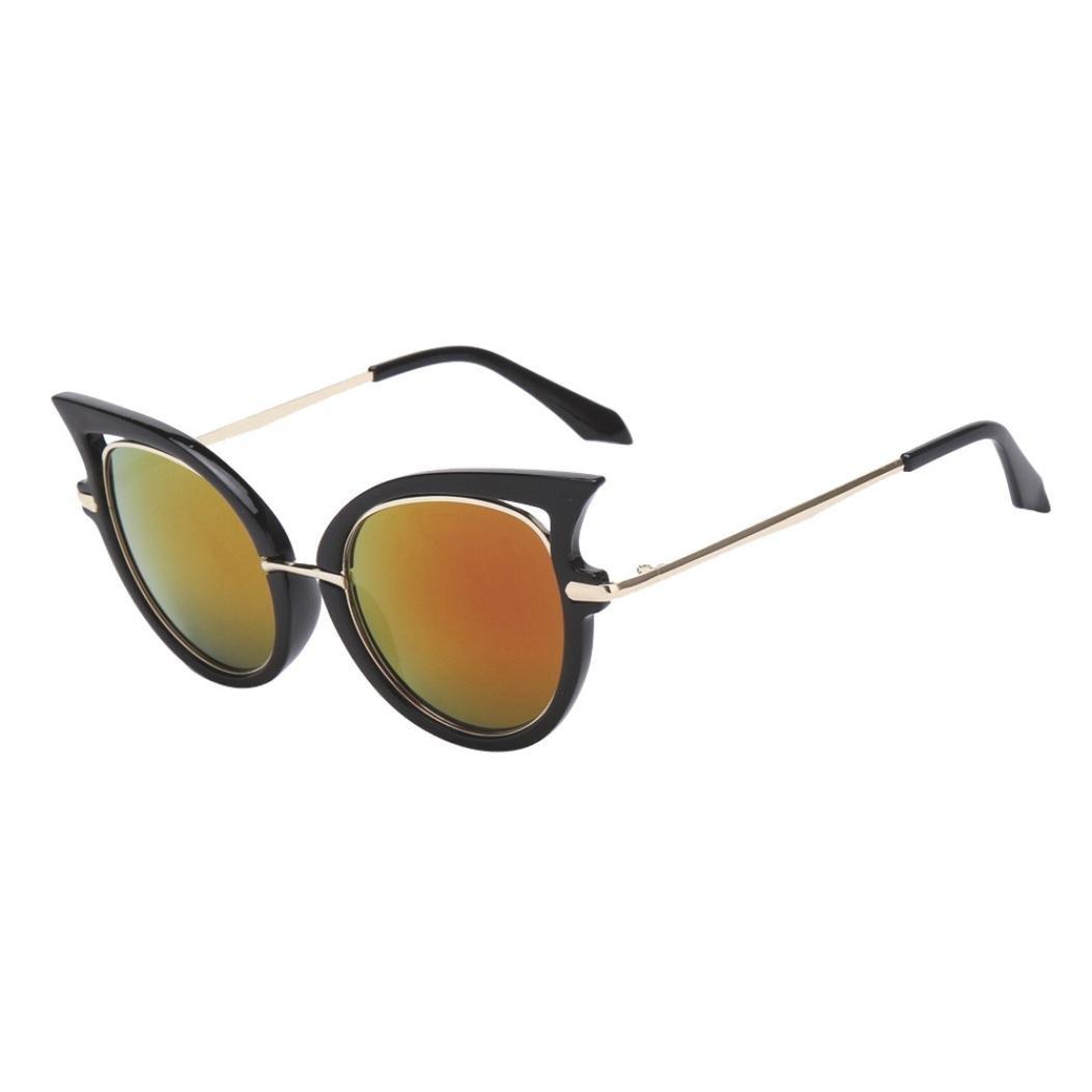 LHWY Sonnenbrille Damen Herren Frauen Männer Sommer Vintage Retro ...