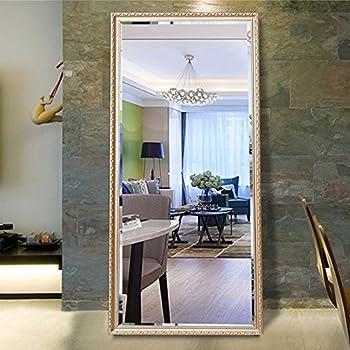 Amazon.com: Christmas Sale! Full Length Leaning Floor Mirror, Wood ...